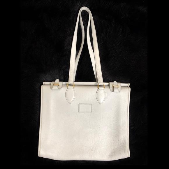 Hermes Handbags - Hermès Ardennes Kaba Tote Grey Gold Shoulder Bag